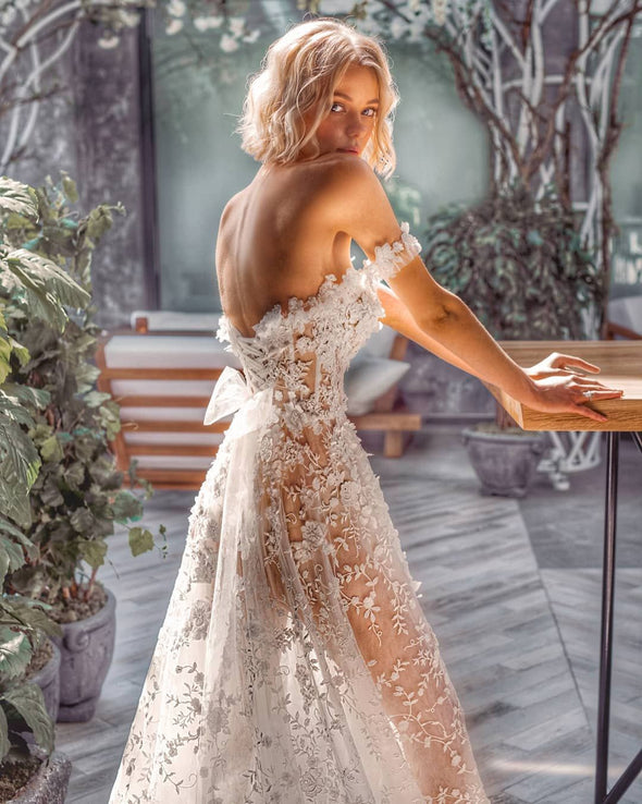 2020 Best Beautiful Lace Big Wedding Dresses