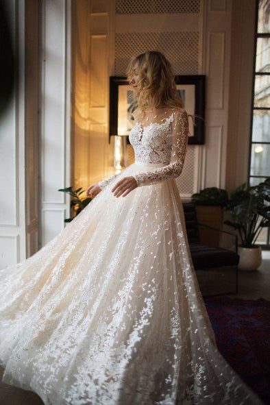 2020 Best Beautiful Lace Beaded Wedding Dresses