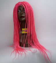 Load image into Gallery viewer, LACE FRONTAL PINK BRAIDED WIG