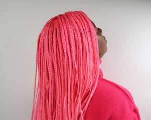 LACE FRONTAL PINK BRAIDED WIG