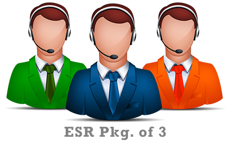Expedited Support Response (ESR) - Pkg. of 3