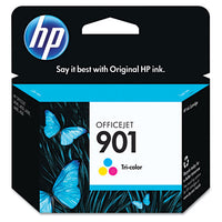 HP 901, Tri-color Original Ink Cartridge (CC656AN)