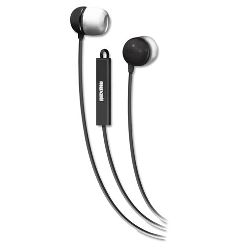 Maxell In-Ear Buds with Built-in Microphone, Black, MAX190300