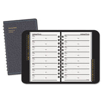 Telephone/Address Book, 4-7/8 x 8, Black (AAG8001105)