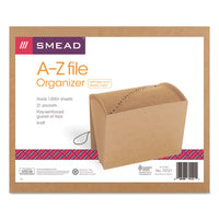 Smead®Indexed Expanding Kraft Files, 21 Sections, 1/21-Cut Tab, Letter Size, Kraft  SMD70121