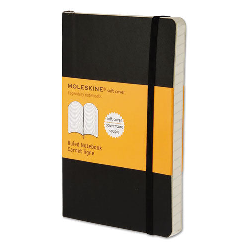 Moleskine® Classic Softcover Notebook, Narrow Rule, Black Cover, 5.5 x 3.5, 192 Sheets, HBG MS710