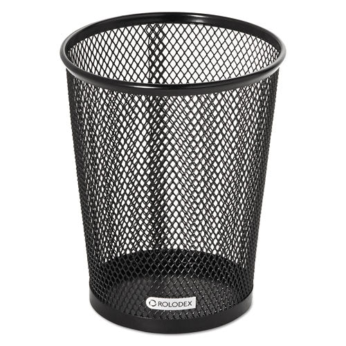 Nestable Jumbo Wire Mesh Pencil Cup, 4 3/8 dia. x 5 2/5, Black (ROL62557)