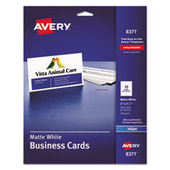 White Business Card  AVE 8371