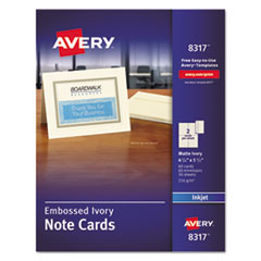 Ivory Note Cards  AVE 8317