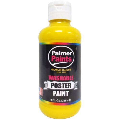 Washable Poster Paint 8oz Yellow PAL 56065