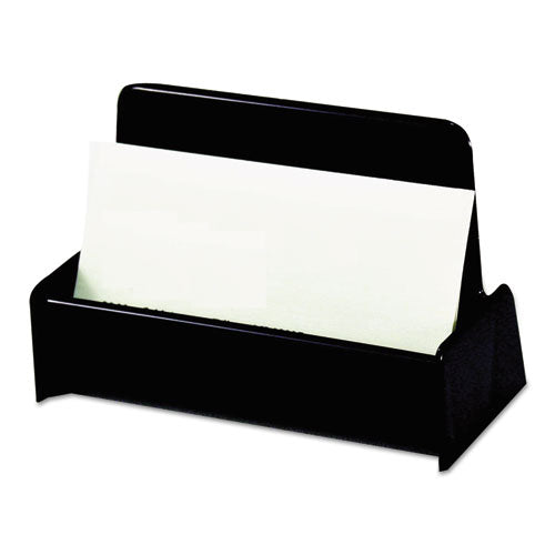 Business Card Holder, Capacity 50 3 1/2 x 2 Cards, Black (UNV08109)