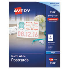 Avery Post Cards  AVE 8387