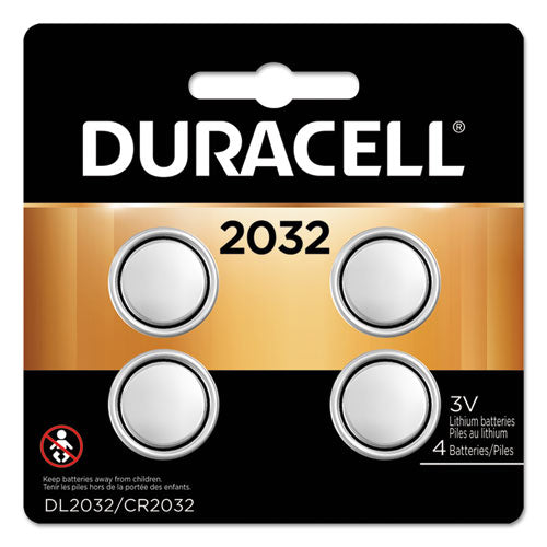 Duracell® Lithium Coin Battery, 2032, 4/Pack, DL2032B 4PK