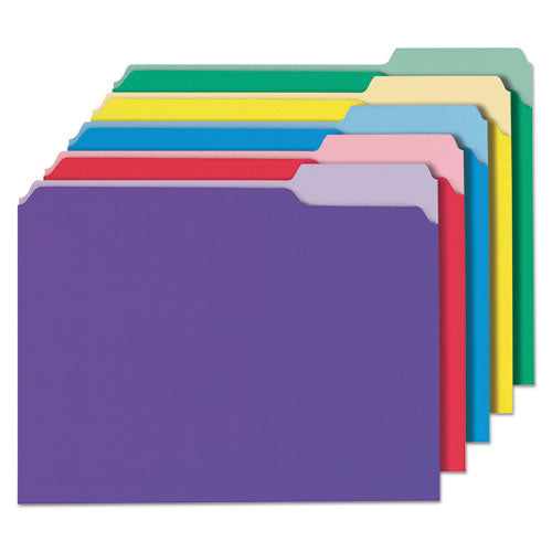 Universal®Deluxe Colored Top Tab File Folders, 1/3-Cut Tabs, Letter Size, Assorted,  UNV10506