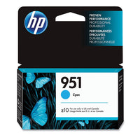 HP 951, Cyan Original Ink Cartridge (CN050AN)