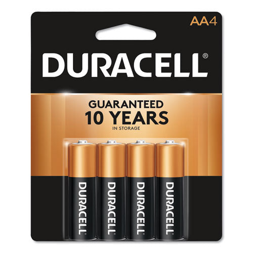 Duracell® CopperTop Alkaline AA Batteries, 4/Pack, MN1500B4Z