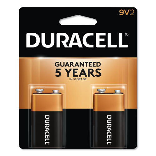 Duracell® CopperTop Alkaline 9V Batteries, 2/Pack, DUR MN1604B2Z