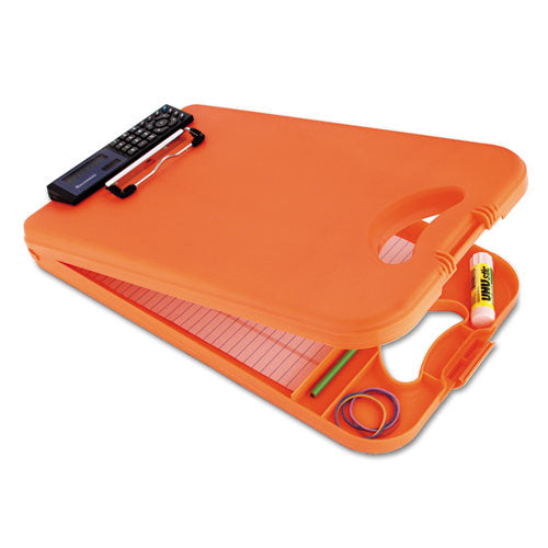 "SaundersDeskMate II w/Calculator, 1/2"" Clip Cap, 8 1/2 x 12 Sheets, Hi-Vis Orange  SAU00543"
