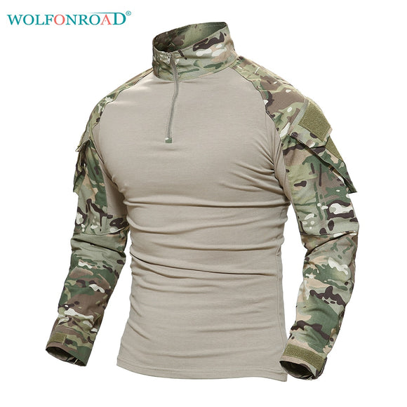 Men's Military Tactical T Shirt Men Camouflage Shirt