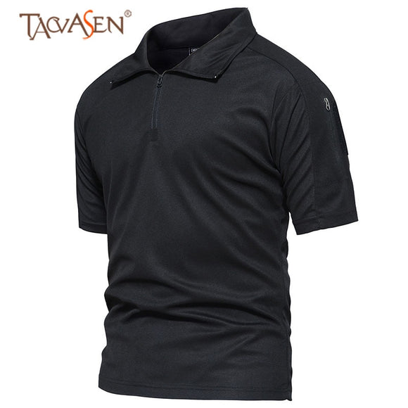 TACVASEN Army Tactical Shirt Men Short Sleeve Military Shirt