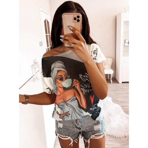 Fashion Aesthetic Graphic Tshirt   Women