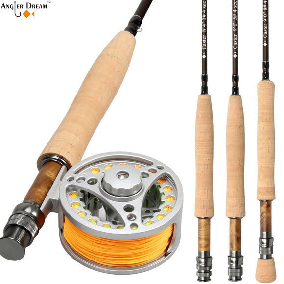 Fly Rod Combo /9FT Carbon Fiber Fly Fishing Rod  Aluminum Fly Fishing Reel and Line