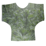 All over print cannabis bud weed Sublimation Batwing Top
