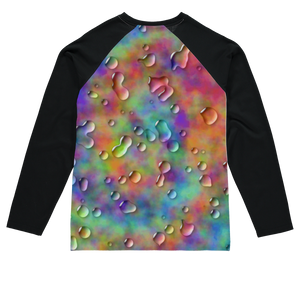 3D Rainbow tie dye Sublimation Baseball Long Sleeve T-Shirt