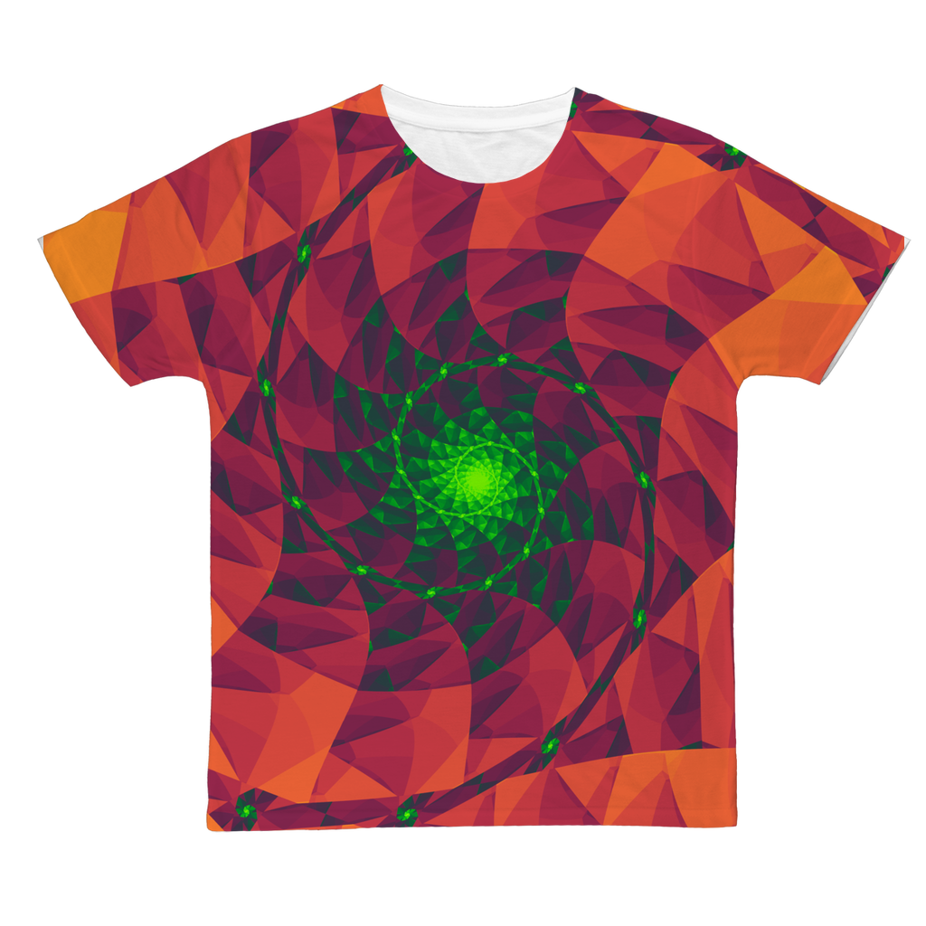 Cool 3D spiral fractal print Classic Sublimation Adult T-Shirt