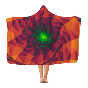 Cool 3D spiral fractal print Classic Adult Hooded Blanket