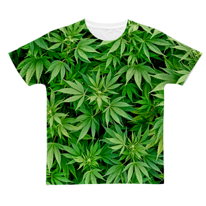 Weed leaf 3D all over print Classic Sublimation Adult T-Shirt
