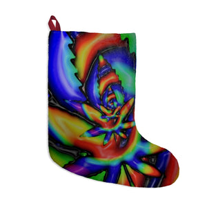 Tie dye weed Christmas stocking