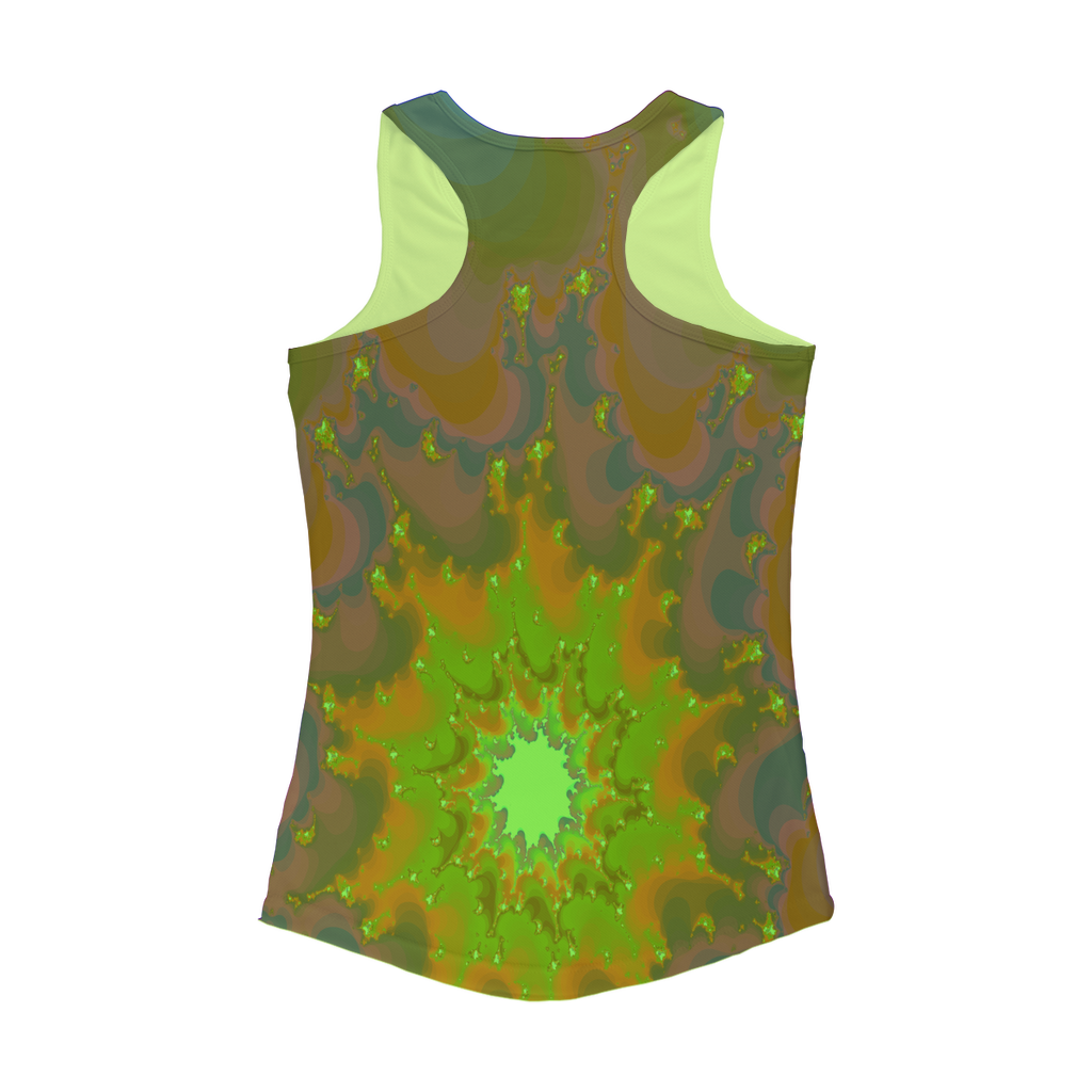 Cool 3D fractal spiral print Women Performance Tank Top