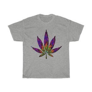 Intricate Fractal Sativa Weed Leaf T Shirt