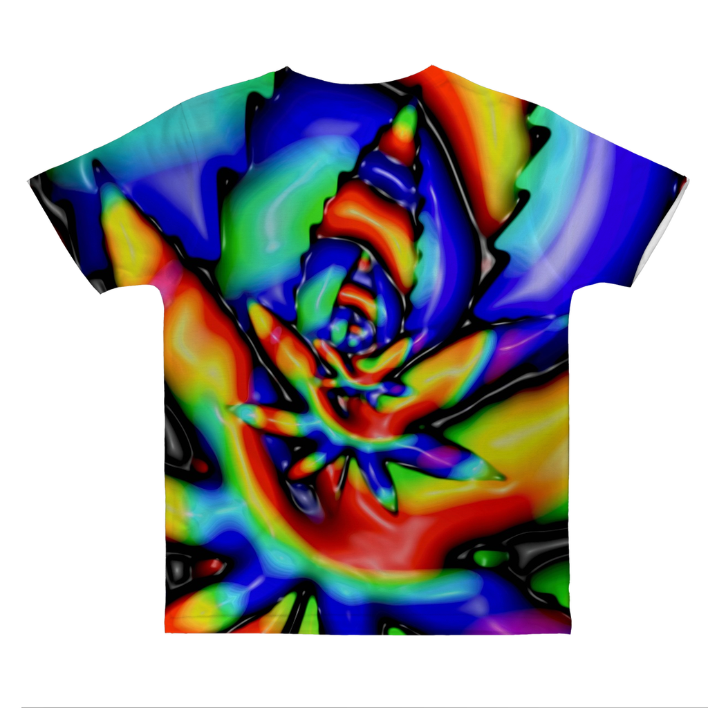 Trippy tie dye weed leaf Classic Sublimation Adult T-Shirt