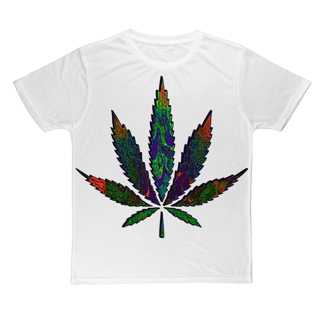 Cool 3D fractal weed leaf Classic Sublimation Adult T-Shirt