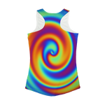 Rainbow Swirly Women Performance Tank Top