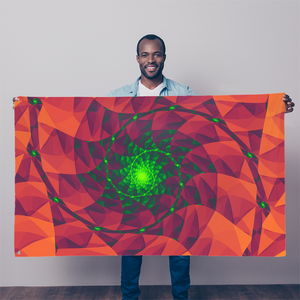 Cool 3D spiral fractal print Sublimation Flag