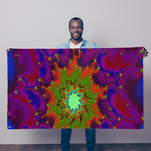 Cool 3D fractal spiral print Sublimation Flag