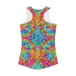 Rainbow 3D tie dye bright colors Women Performance Tank Top