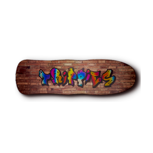 Trippies graffiti logo old school pool riders skateboard deck