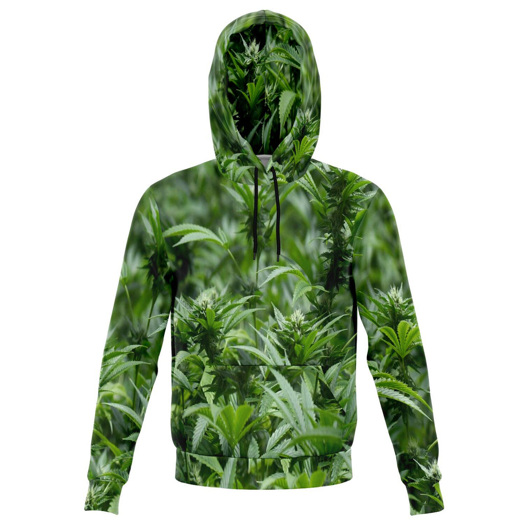 All over print 3D cannabis weed bud hoodie