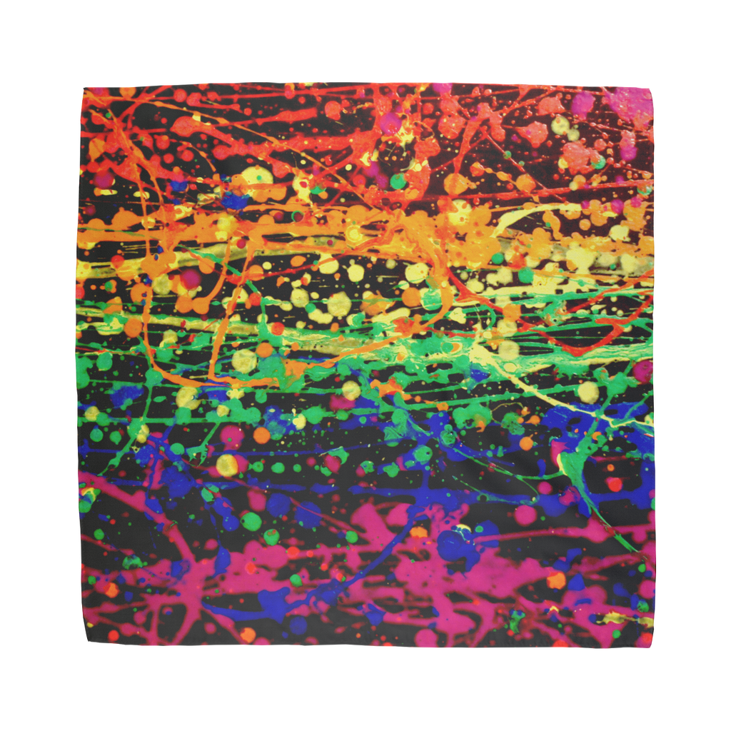Rainbow pride abstract splatter painting print Sublimation Bandana
