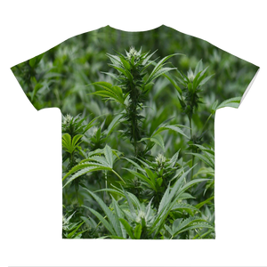 All over print cannabis bud weed Classic Sublimation Adult T-Shirt