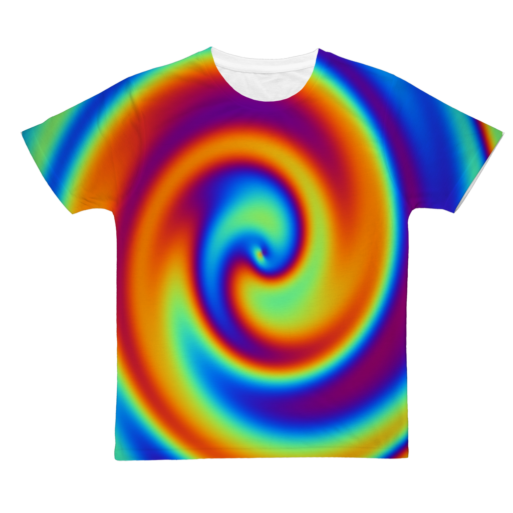 Rainbow Swirly Classic Sublimation Adult T-Shirt