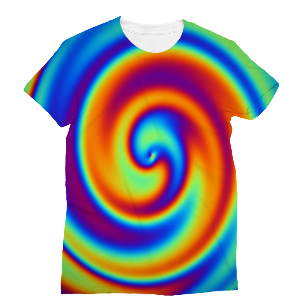 Rainbow Swirly Classic Sublimation Women's T-Shirt