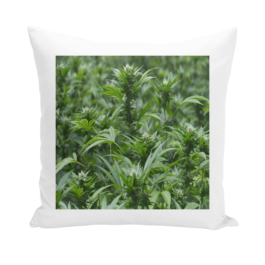 All over print cannabis bud weed Throw Pillows
