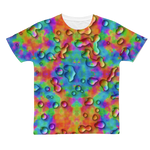 Rainbow 3D tie dye bright colors Classic Sublimation Adult T-Shirt