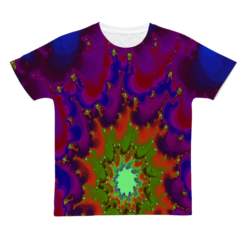 Cool 3D fractal spiral print Classic Sublimation Adult T-Shirt