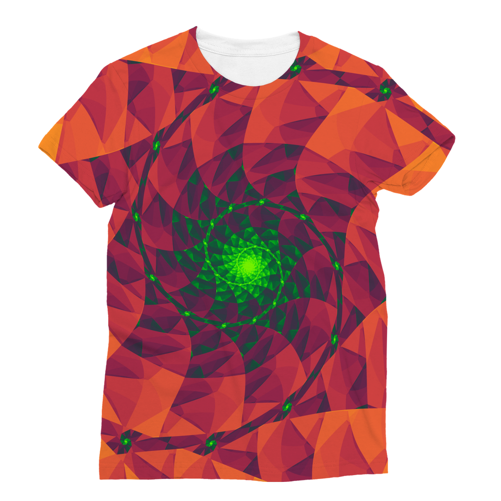 Cool 3D spiral fractal print Classic Sublimation Women's T-Shirt